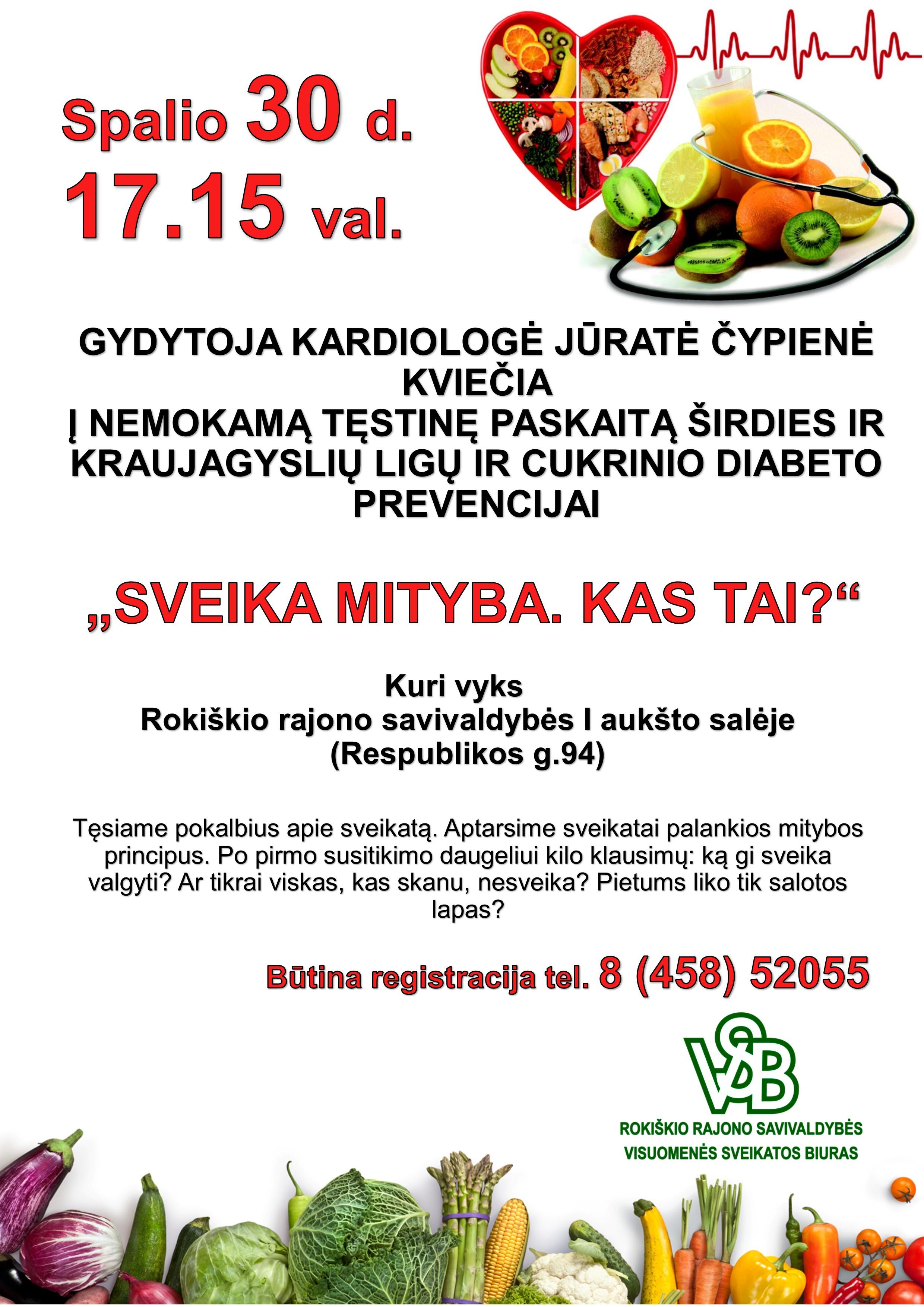gera mityba širdies sveikatai mobilizacija ir hipertenzija